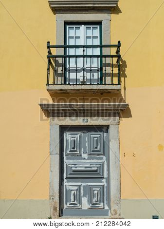 In The Old Alleyways Of Faro On The Coast Of Southern Portugal