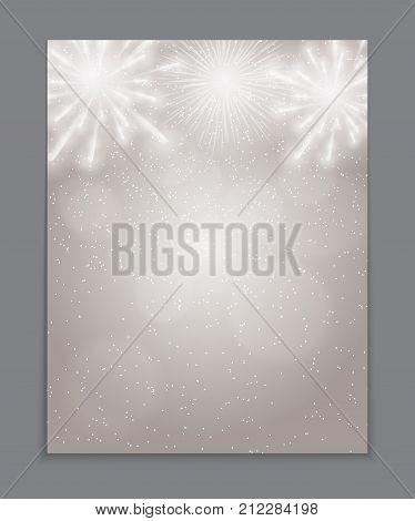 Vector Illustration of Fireworks, Salute on a Ligth Background EPS10