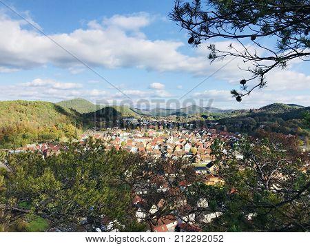 Village View From A Mountain In Rheinland Pfalz Region