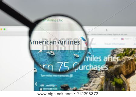 Milan, Italy - August 10, 2017: American Airlines Website Homepage. It Commonly Referred To As Ameri