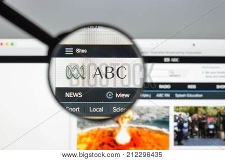 Milan Italy - August 10 2017: Abc website homepage. It is -. Abc logo visible.