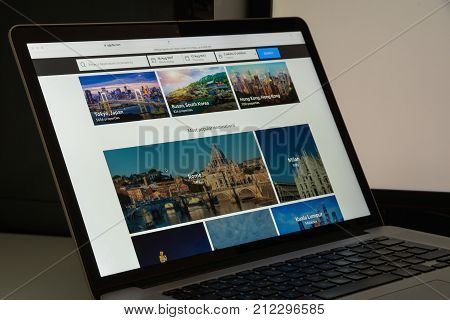 Milan, Italy - August 10, 2017: Agoda Website Homepage. It Is A Travel Fare Aggregator Website And T
