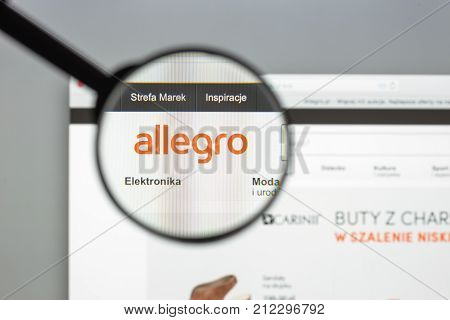 Milan, Italy - August 10, 2017: Allegro Website Homepage. It Is A Polish Online Auction Website.. Al