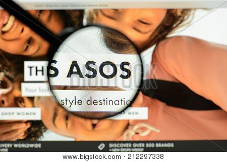 Milan, Italy - May 7, 2017: Asos Website Homepage. It's A British Fashion E-commerce Store. Logo