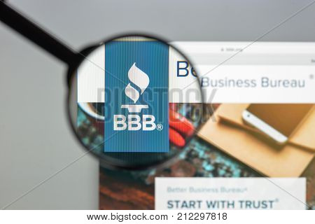 Milan, Italy - August 10, 2017: Bbb Website Homepage. It Is A Nonprofit Organization Focused On Adva