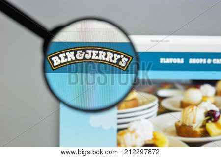 Milan, Italy - August 10, 2017: Benjerry Website Homepage. It Trading And Commonly Known As Ben & Je