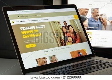 Milan, Italy - August 10, 2017: Commonwealth Bank Website Homepage. It Is An Australian Multinationa