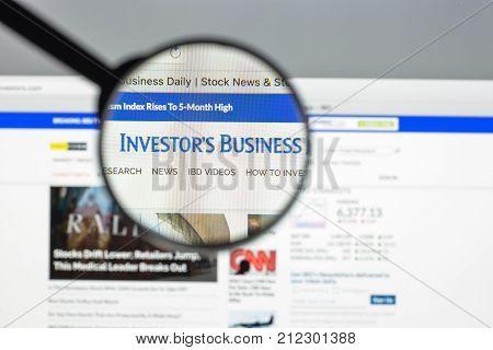 Milan, Italy - August 10, 2017: Investors Website Homepage. Investors Logo Visible.