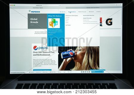 Milan, Italy - August 10, 2017: Pepsi Co Website Homepage. It Is An American Multinational Food, Sna