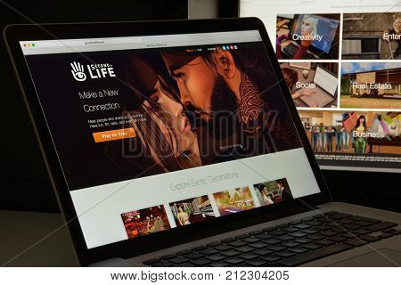 Milan, Italy - August 10, 2017: Second Life Website Homepage. It Is An Online Virtual World, Develop