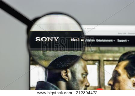 Milan, Italy - August 10, 2017: Sony Website Homepage. It Is A Japanese Multinational Conglomerate C