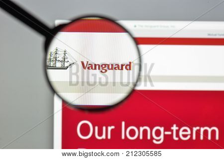 Milan, Italy - August 10, 2017: Vanguard Website Homepage. It Is An American Investment Management C