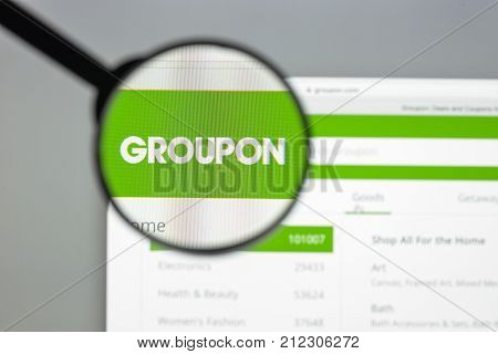Milan, Italy - August 10, 2017: Groupon Website Homepage. It. Is An American Worldwide E-commerce Ma