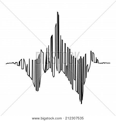 Audio equalizer tune icon. Simple illustration of audio equalizer tune vector icon for web