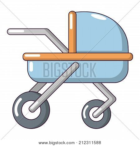 Baby carriage family icon. Cartoon illustration of baby carriage family vector icon for web