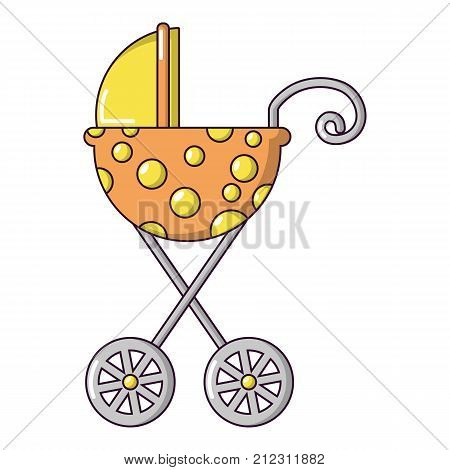 Baby carriage elegant icon. Cartoon illustration of baby carriage elegant vector icon for web