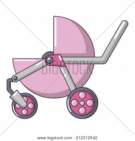 Baby carriage modern icon. Cartoon illustration of baby carriage modern vector icon for web
