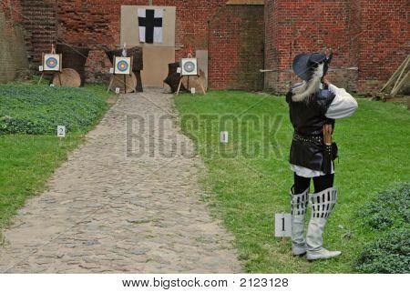 A Crossbowman Shooting