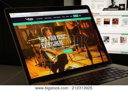 Milan, Italy - August 10, 2017: Cdbaby.com Website Homepage. It Is An Online Music Store.  Cdbaby.co