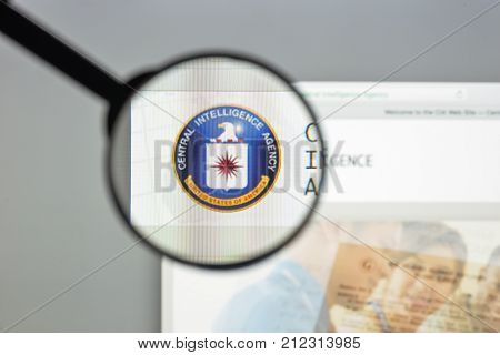 Milan, Italy - August 10, 2017: Cia Website Homepage. It Is A Civilian Foreign Intelligence Service