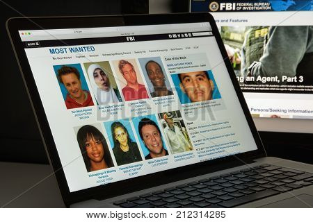 Milan, Italy - August 10, 2017: Fbi Website Homepage. It Is The Domestic Intelligence And Security S