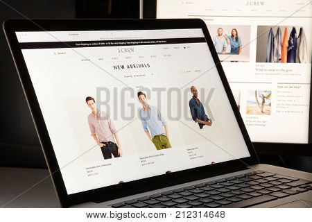 Milan, Italy - May 7, 2017: J Crew Brand Website Homepage. It's A Fashion E-commerce Store.
