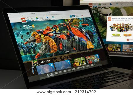 Milan, Italy - August 10, 2017: Lego.com Website Homepage. It Is A Line Of Plastic Construction Toys
