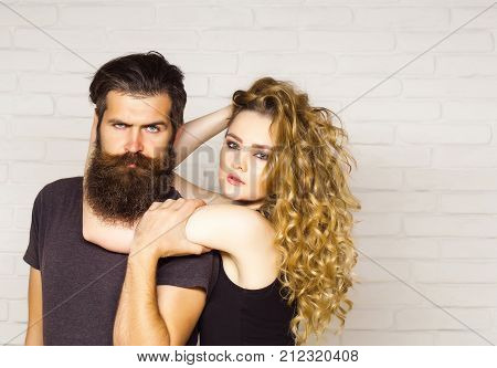 Girl And Bearded Hipster