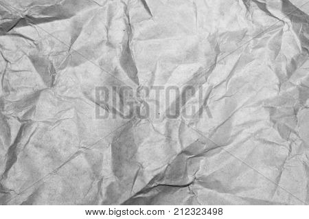 The Texture Of White Paper With Dents And Kinks.