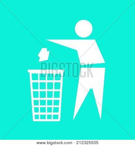 Do not litter, vector sign illustration art