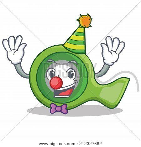 Clown adhesive tape character cartoon vector illustration