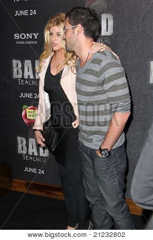 NEW YORK - JUNE 20: Kirstie Alley and Maksim Chmerkovskiy attend the premiere of