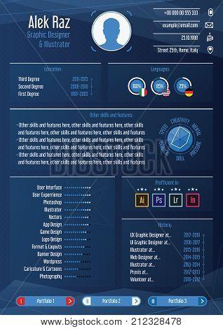 Creative Modern Resume / Cv Vector Design Illustration, Editable