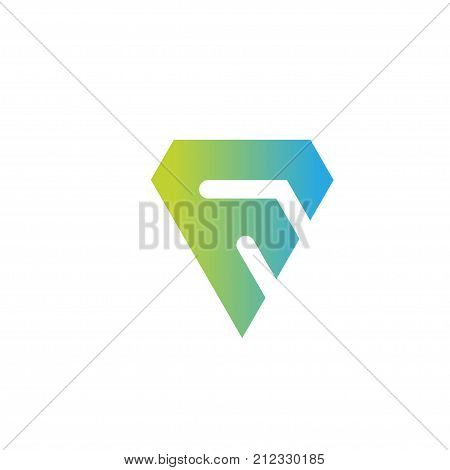 modern and elegant letter f logo sport. strong letter F creative colorful logo vector