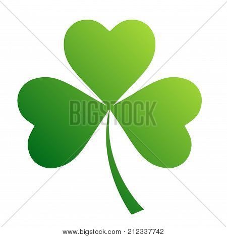 Irish shamrock leaves background for Happy St. Patrick's Day. EPS 10