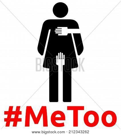 Sexual Harassment - #MeToo - woman pictogram