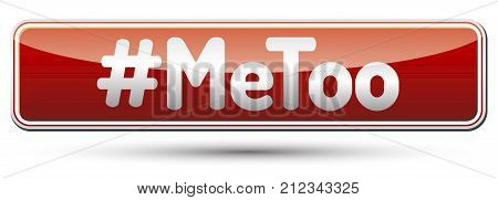 #MeToo - glossy red banner with shadow