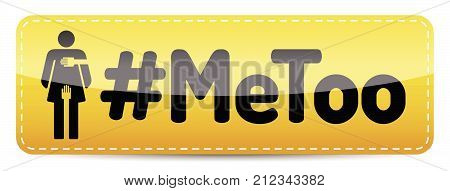 #MeToo - Glossy Banner with woman pictogram