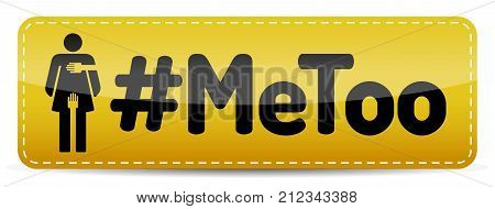 #MeToo - Banner with woman pictogram with shadow