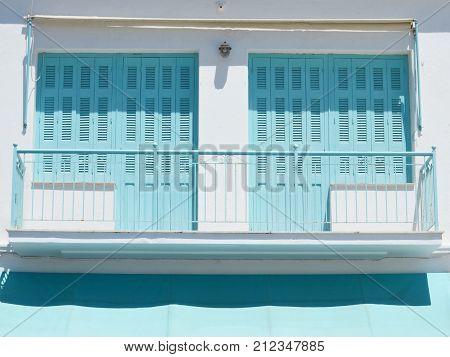 Skiathos Greek Island House Facade of the House
