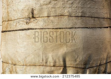 Background texture of dirty obsolete canvas in industrial usage