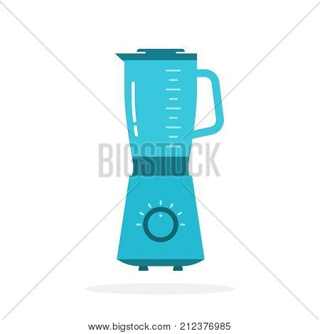 Electric kitchen appliance, blender. Blender machine to make healthy food, smoothies drinks. Vector illustration of mixer isolated on a white background.