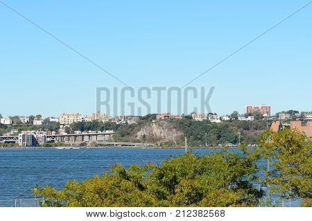 View Across The Hudson River To Weehawken, New Jersey