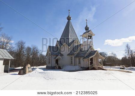 Ascension Church in the city Sokol, Vologda region, Russia