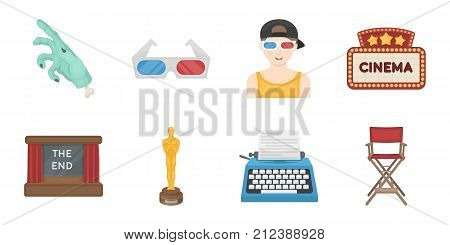 Films and cinema icons in set collection for design.Movies and Attributes vector symbol stock  illustration.