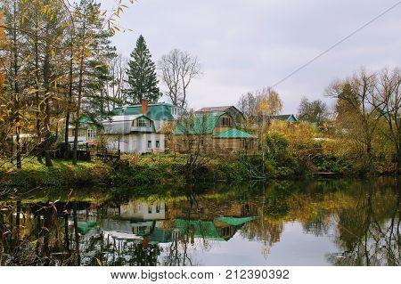 Pond in the estate of Leo Tolstoy in Yasnaya Polyana.