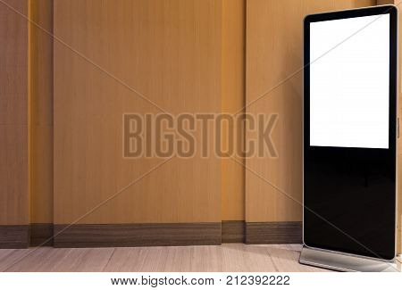 Blank bill board stand on floor for advertising
