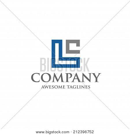 LC letter logo design vector illustration template, L letter logo vector, letter LW and C logo vector, creative Letter LC letter logo