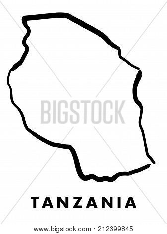 Tanzania Map Outline