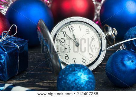 Christmas Balls And Watch
